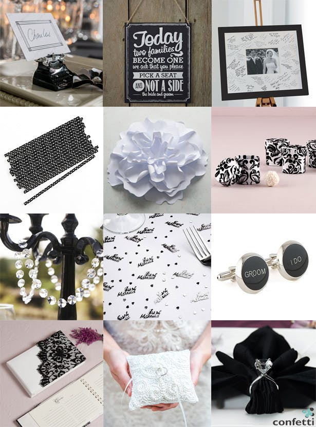 Monochrome Summer Wedding | Confetti.co.uk