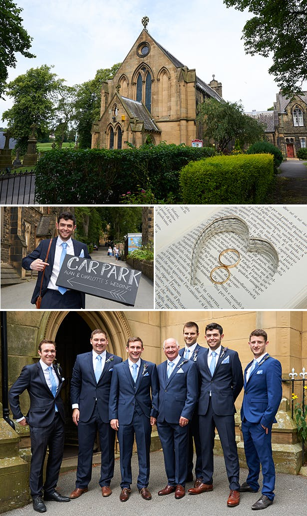 Church wedding ceremony | Book ring cushion alternative  | Charlotte and Alan's Country Themed Wedding | More real wedding inspiration at Confeti.co.uk