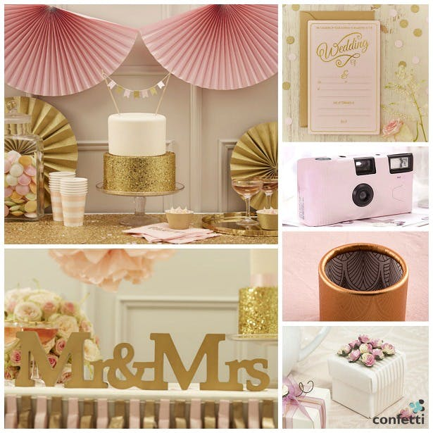 Vintage pink and gold wedding colours | Confetti.co.uk