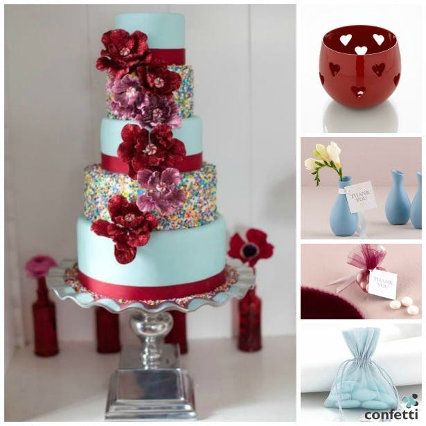 Red and blue theme | Confetti.co.uk