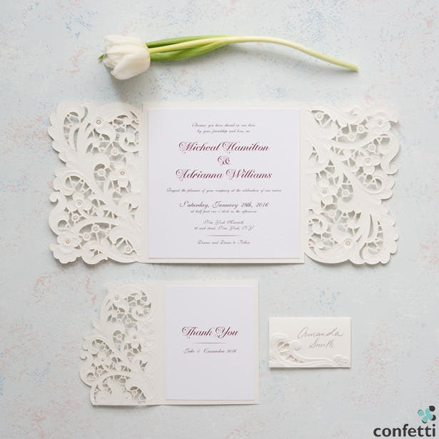Vintage Lace Invitations | Confetti.co.uk