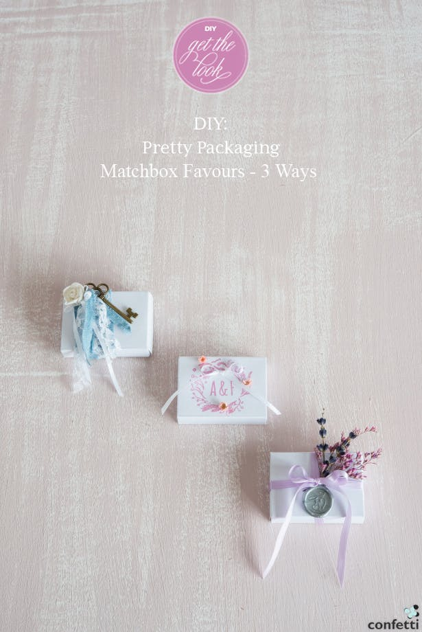 DIY Pretty Matchbox Wedding Favours | Confetti.co.uk