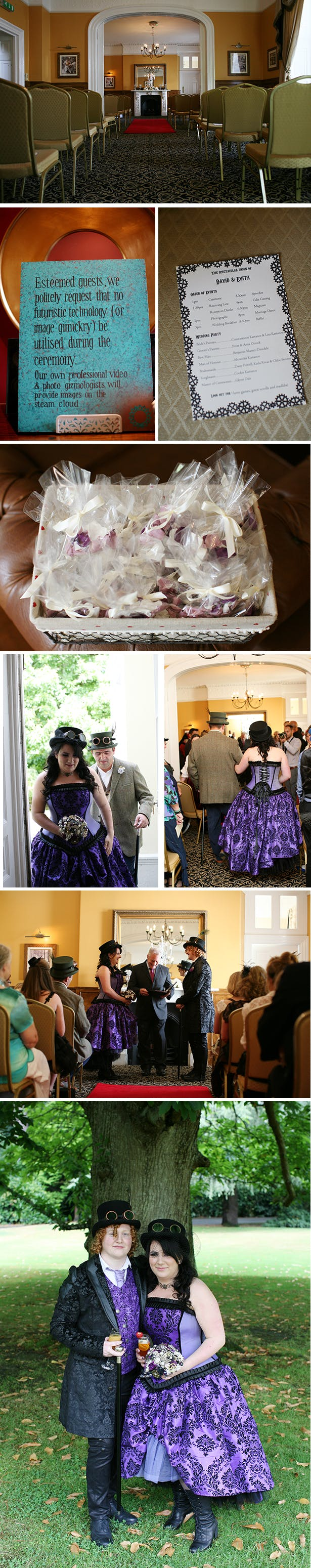 Steam punk themed wedding ceremony | Evita and David's steam punk wedding | Confetti.co.uk