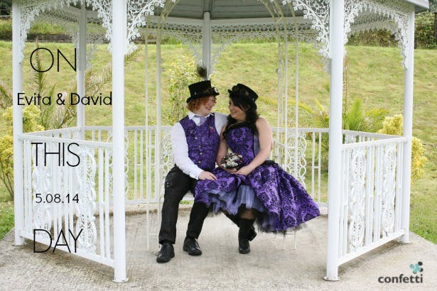 Evita and David's steam punk wedding | Confetti.co.uk