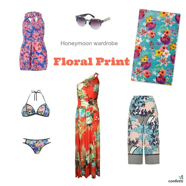 Must-haves for your Honeymoon Wardrobe | Floral honeymoon wardrobe | More honeymoon inspiration from Confetti.co.uk