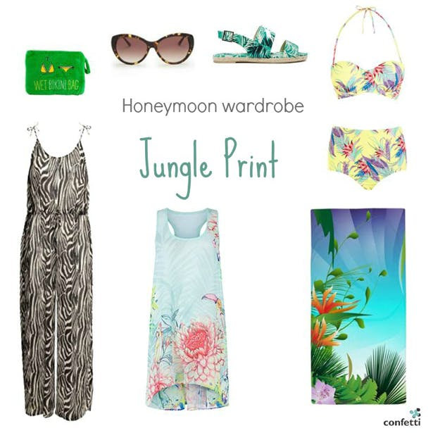 Must-haves for your Honeymoon Wardrobe | Jungle printhoneymoon wardrobe | More honeymoon inspiration from Confetti.co.uk