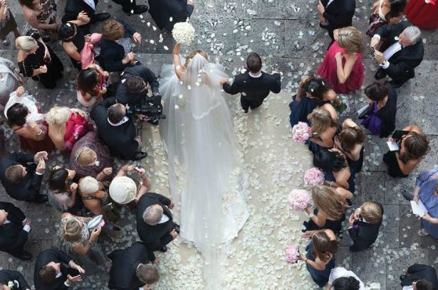 A must have wedding ceremony shot using a drone | Confetti.co.uk