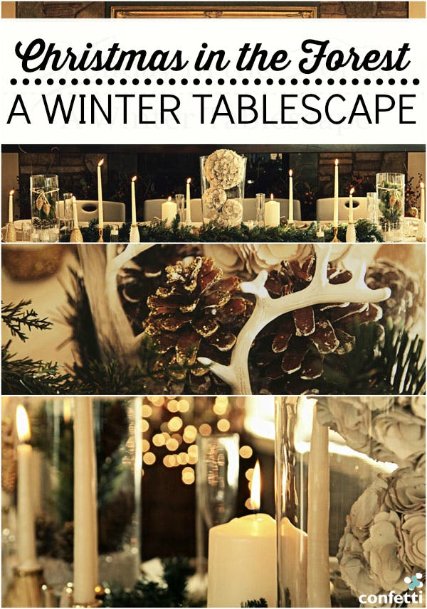 Take a peek at our winter tablescape, suitable for any Christmas themed wedding! Confetti.co.uk