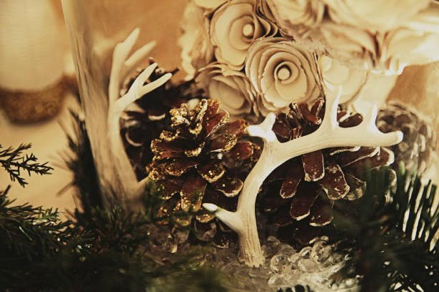 Antlers and pine cones are the stars of this forest motif perfect for a winter wedding | Confetti.co.uk