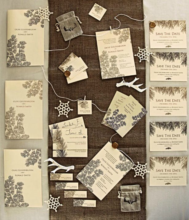 Confetti.co.uk's Evergreen Wedding Stationery Collection
