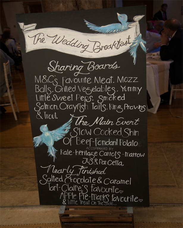 Wedding Breakfast by The Castle at Edge Hill Caterers | Confetti.co.uk