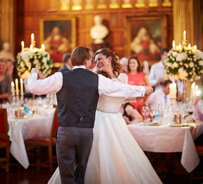 First dance at Laura and Kriss real wedding by Douglas Fry | Confetti.co.uk