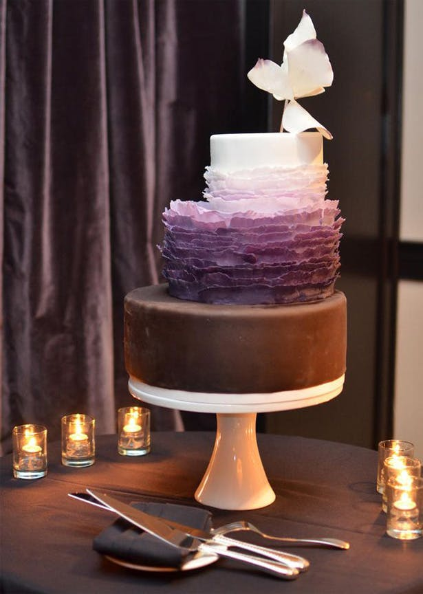 Chocolate and Purple Ombre Staircase Cake