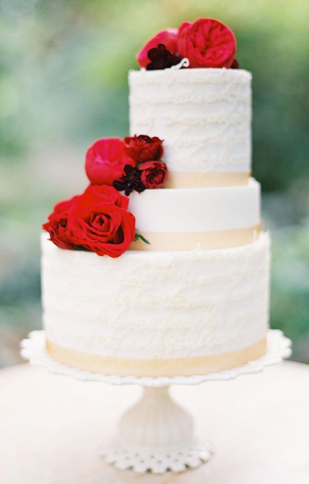 Red Flower Staircase Cake