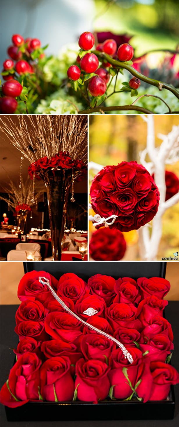 Red Winter Wedding | Confetti.co.uk