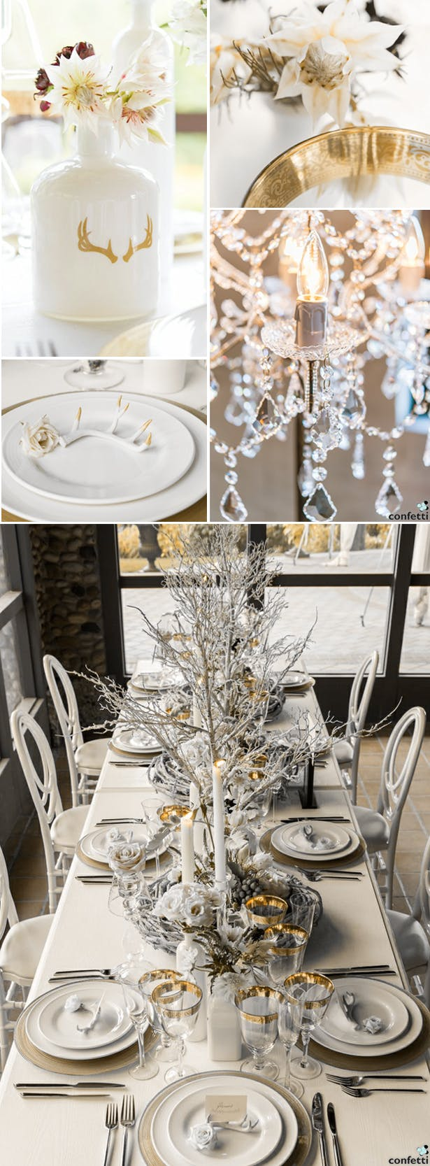 White and Gold Winter Wedding | Confetti.co.uk
