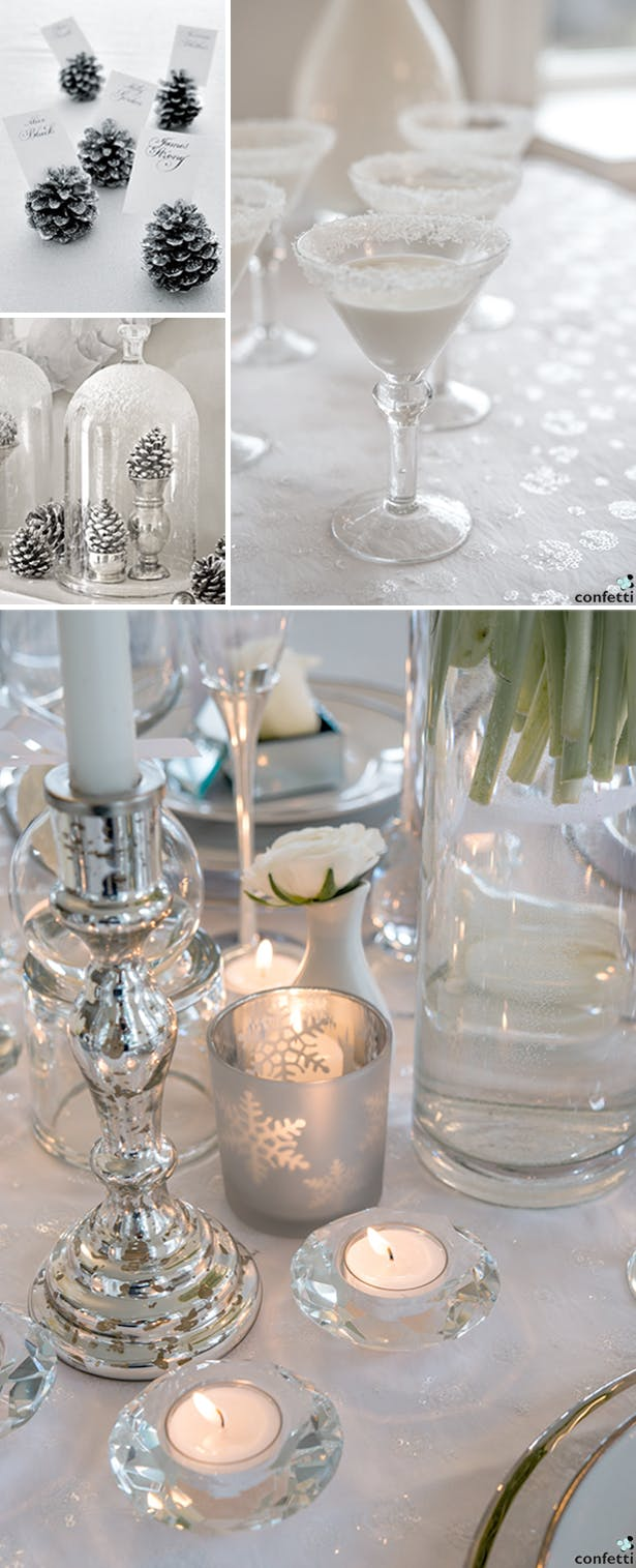 White and Silver Winter Wedding | Confetti.co.uk