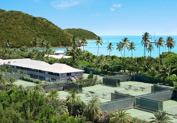 Tennis just a stone's throw from crystalline Caribbean beaches will keep you fit on your honeymoon | Confetti.co.uk