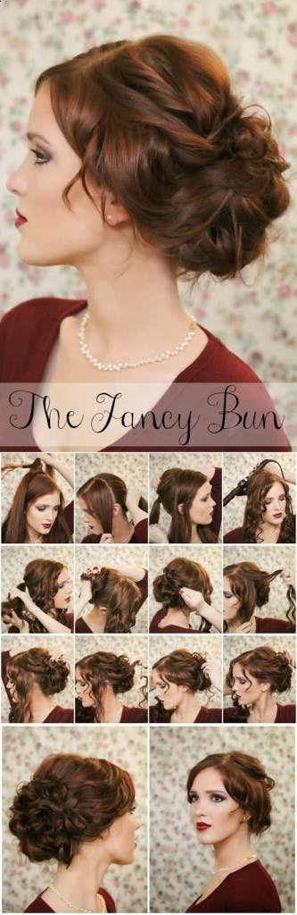 The Fancy Bun Easy Wedding Hairstyle | Confetti.co.uk