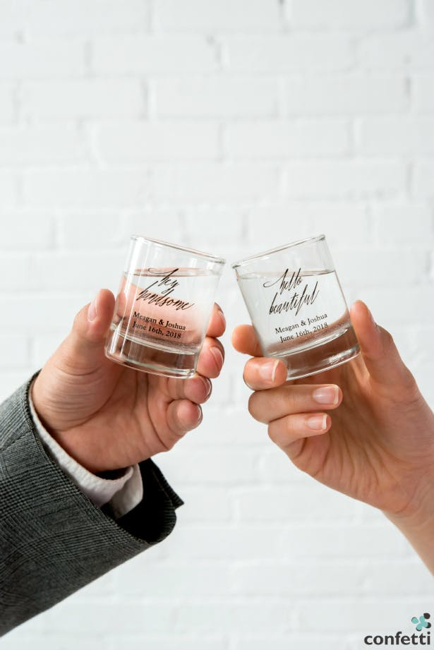 Cheers to you, beautiful! These handsome shot glasses will be a hot product in 2016! | Confetti.co.uk