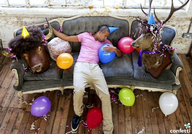 Man passed out after a party | Confetti.c.uk