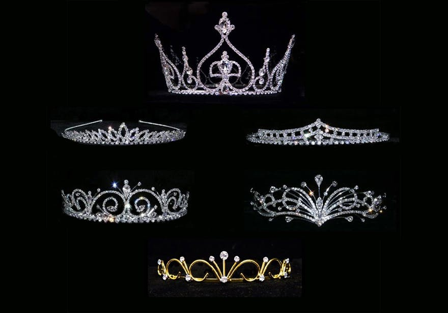 Glittering Gold and Silver Crystal Wedding Crowns and Tiaras by 3D Jewellery | Confetti.co.uk