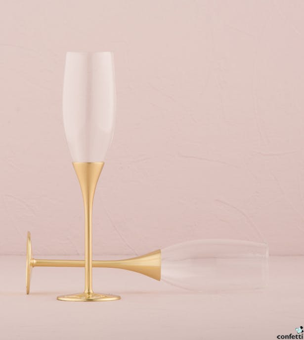 Gold Champagne Flutes | Confetti.co.uk
