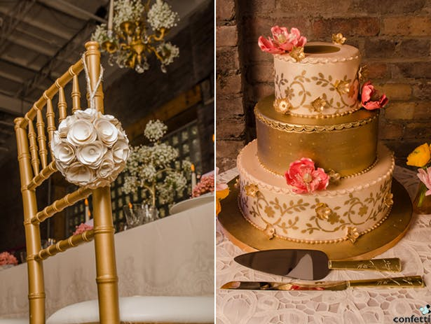 Gold Cake | Confetti.co.uk