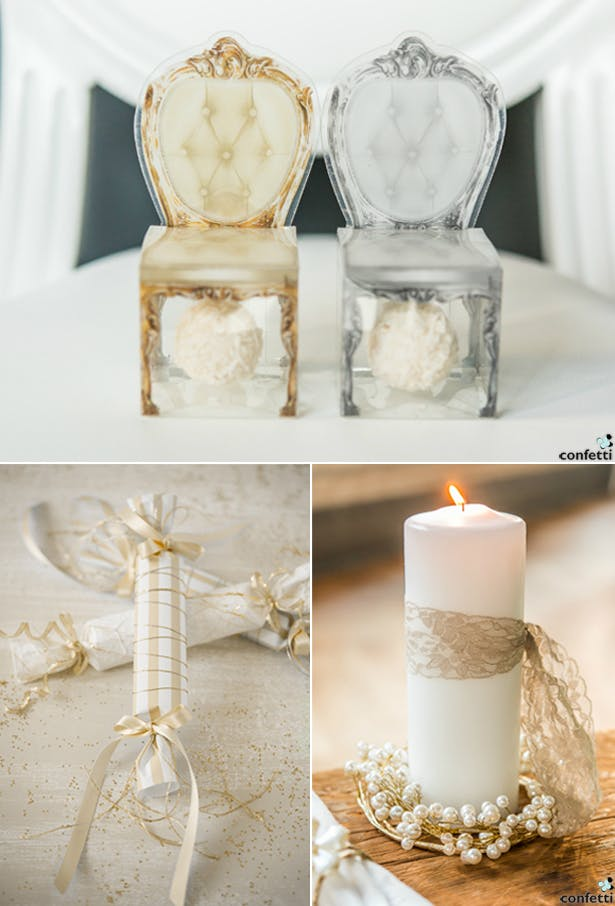Silver-Gold Decor | Confetti.co.uk