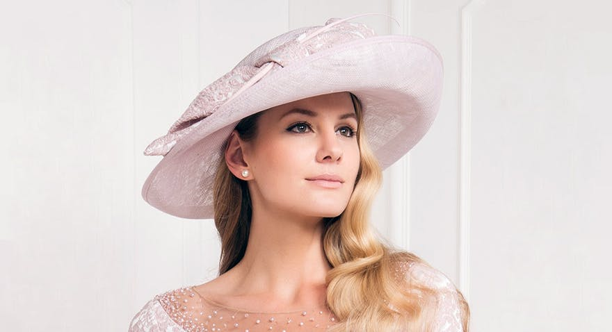 VV for John Charles – 25861 - Dusky Pink Wedding Hat | Confetti.co.uk