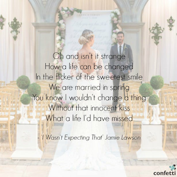 'I wasn't expecting that' Jamie Lawson   Confetti.co.uk