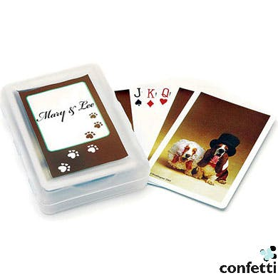 Bride And Groom Hounds Playing Cards from confetti | Confetti.co.uk