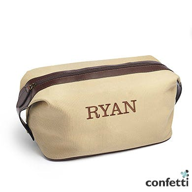 Pack all your toiletries in a rugged canvas dopp kit | Confetti.co.uk