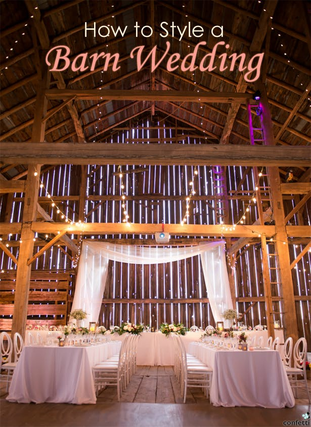 How to Style a Barn Wedding | Confetti.co.uk