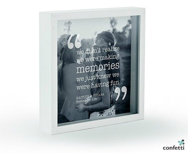 Personalised etched glass frame | Confetti.co.uk