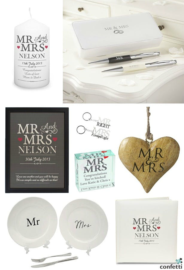 Mr And Mrs Wedding Gifts Confetti