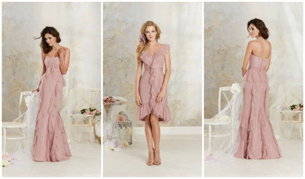 Pink bridesmaid dresses by Alfred Angelo | Confetti.co.uk