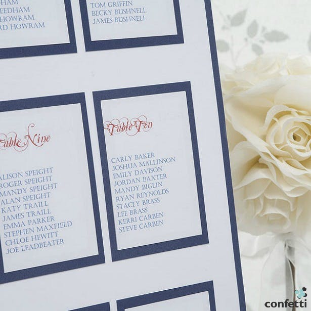 Elegant border table planner | Confetti.co.uk