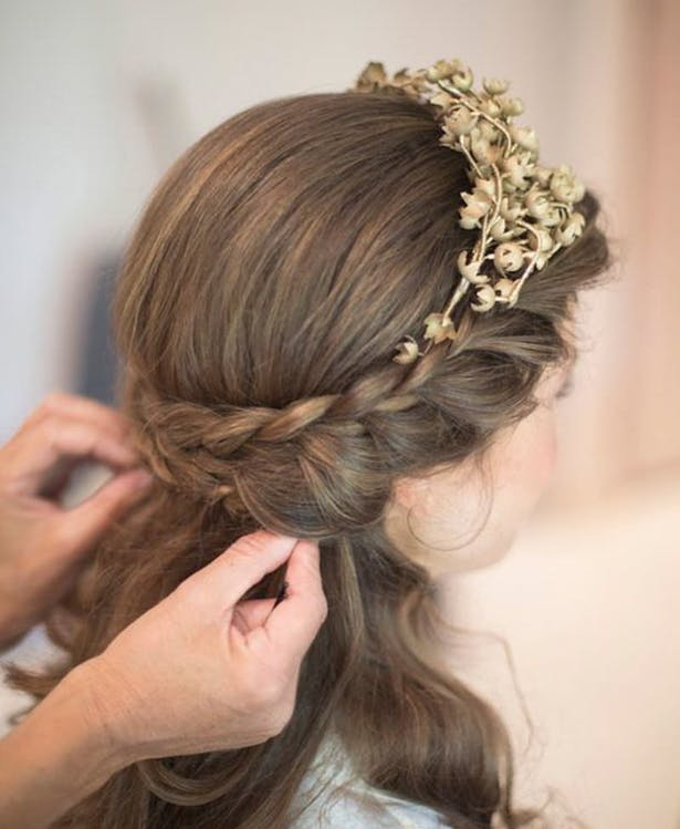 Wedding Hairstyle with Braids | Confetti.co.uk