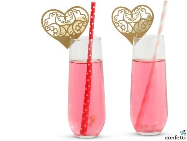 Valentine's themed drinks from Confetti.co.uk