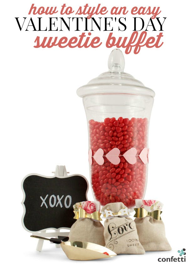 How to Style an Easy Valentine's Day Sweetie Buffet | Confetti.co.uk