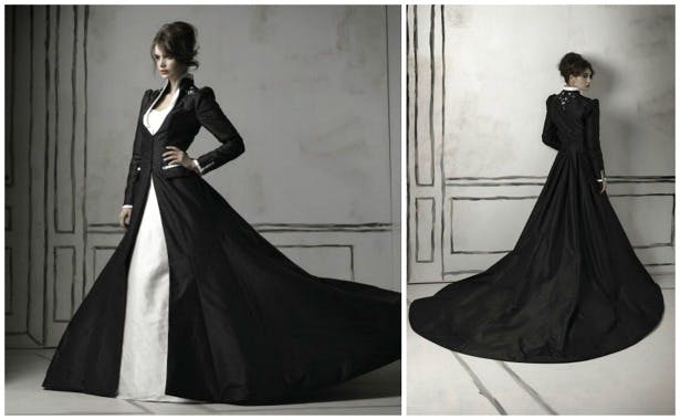 Black wedding dress by Justin Alexander | Confetti.co.uk