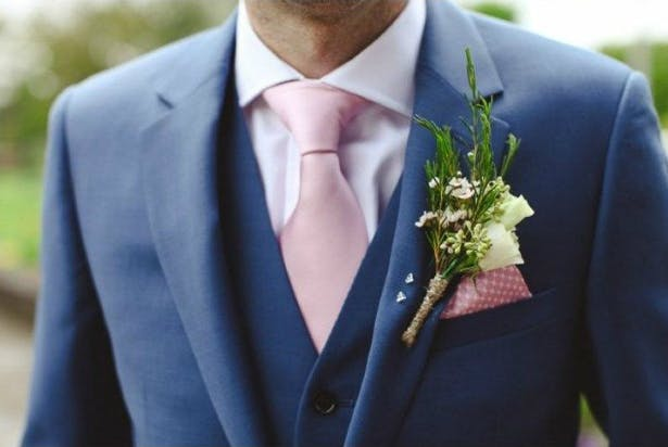 Pink Tie and Handkerchief | Confetti.co.uk