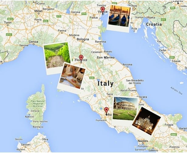A map of Italy