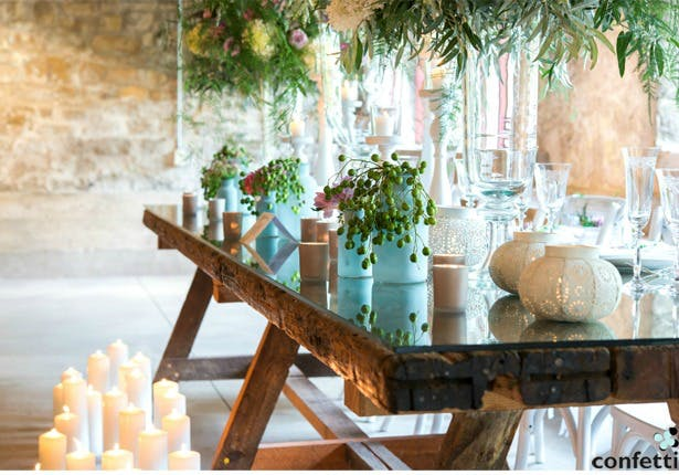 Bohemian wedding table decorations | Confetti.co.uk