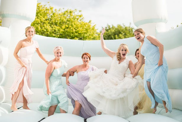 Bride and Bridesmaids Fun | Confetti.co.uk