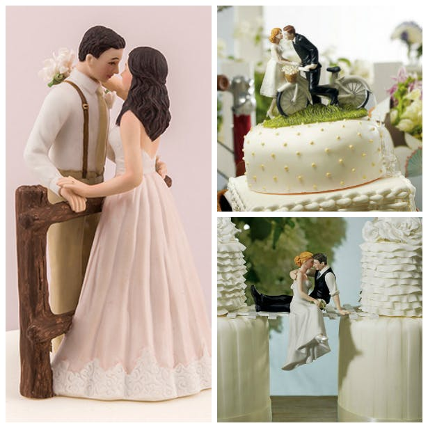 Rustic couple cake toppers | Confetti.co.uk