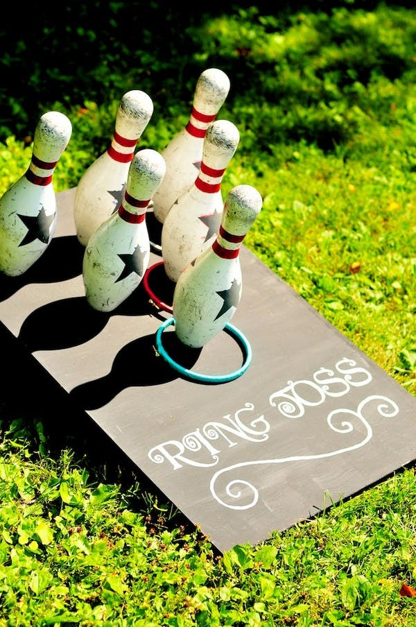 Vintage bowling pin ring toss for a vintage wedding | Confetti.co.uk