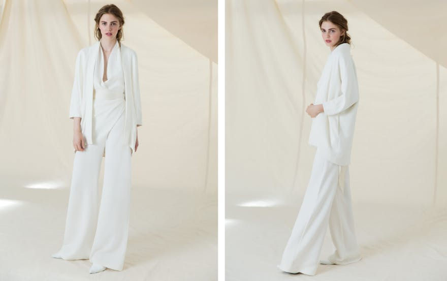 loose fitting wedding suit for women
