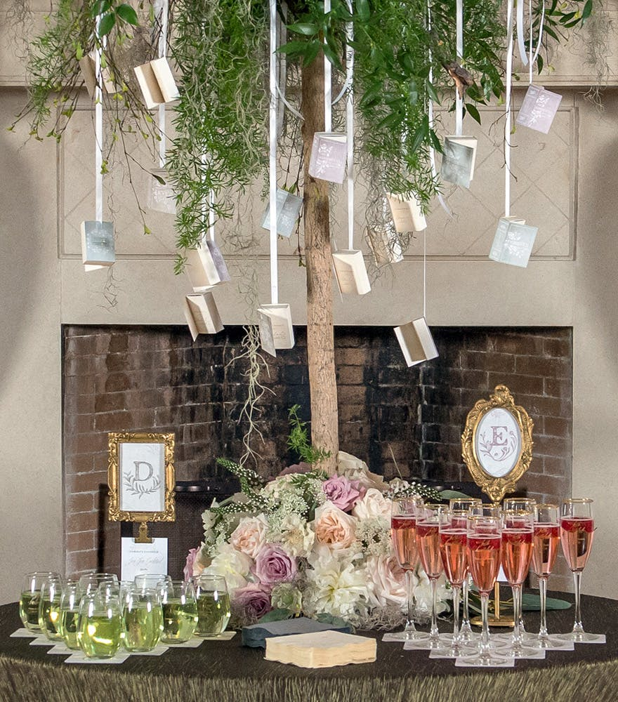 Modern Fairytale Wedding Drinks Table | Confetti.co.uk